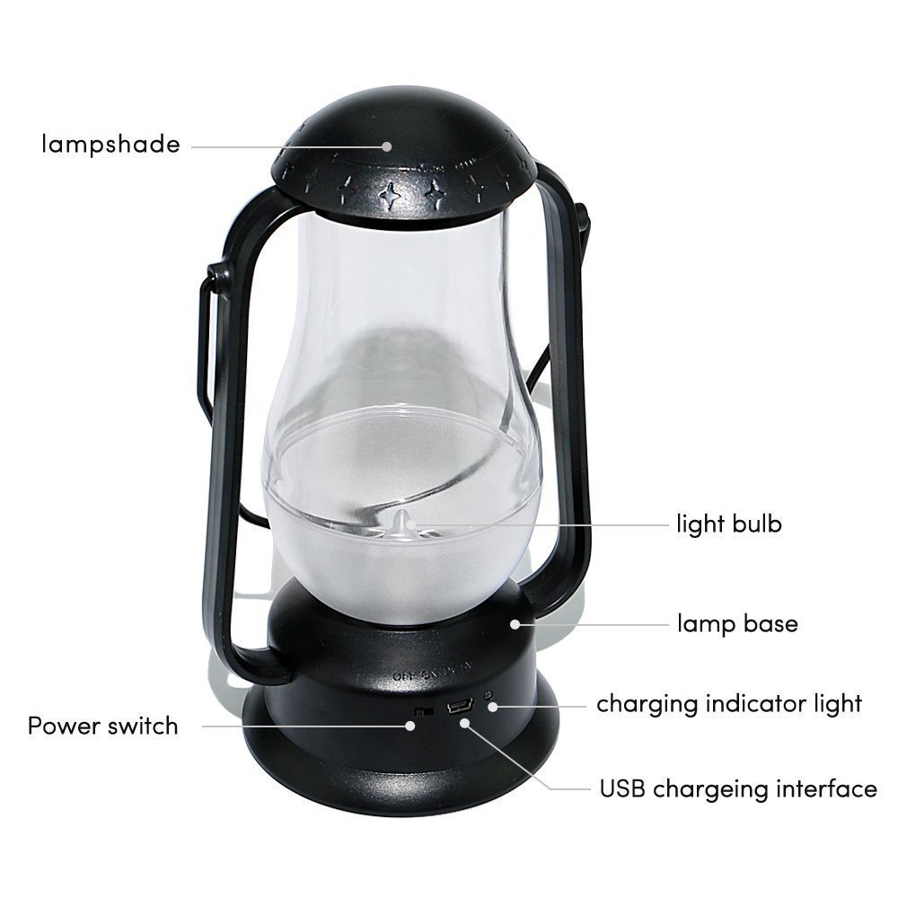 e-joy ej-0025 Portable Blow LED Lamp Blowing Control LED Lantern/Candle Wireless Camping Lamp Nightlight Bedside Lamp 4