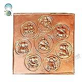 Vedic Vaani Ashtavinayak Pratima In Copper