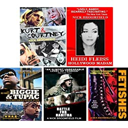 Kurt & Courtney / Heidi Fleiss/ Biggie & Tupac / Battle For Haditha / Fetishes -5 DVD Set
