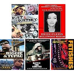 Kurt & Courtney / Heidi Fleiss/ Biggie & Tupac / Battle For Haditha / Fetishes -5 DVD Set