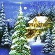 IHR - Servietten - Winter World blue - Weihnachten / Haus / Schnee / Wald