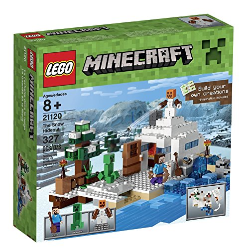 LEGO Minecraft (327pcs) the Snow Hideout Toy for Kids Figures Building Block Toys