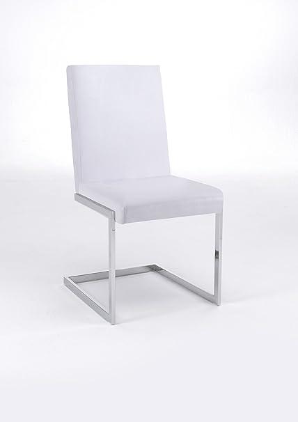 Cavadore Charisse Schwinger B 04 VS, Lederimitat, weiß, 49 x 53 x 93 cm