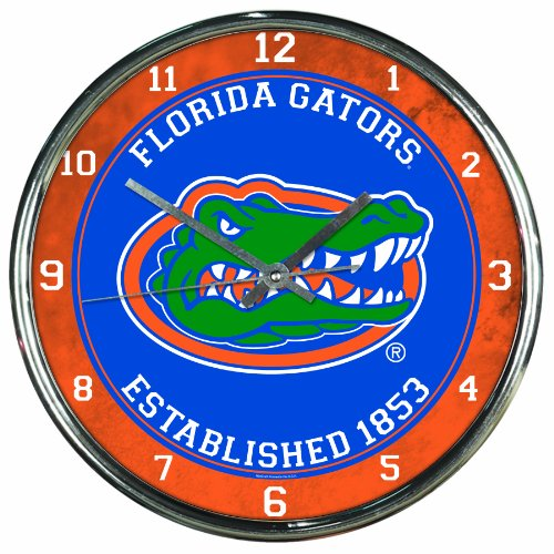 NCAA Florida Gators Chrome Clock