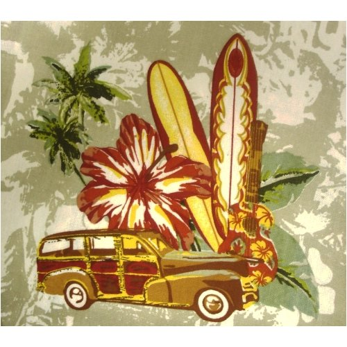 Studebaker Collection Hawaiian U0026 Surf Board Themed Shower Curtain