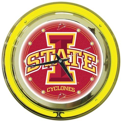NCAA Iowa State 14-Inch Diameter Neon Clock