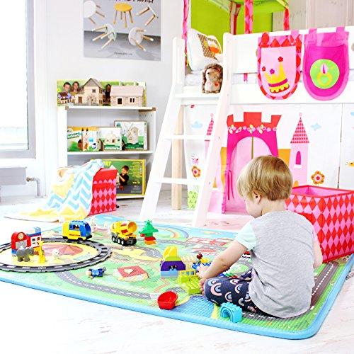 Spielmatte Baby / Kind, 160cm x 120cm, beidseitig bespielbar, schadstoffgeprüft