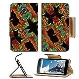 MSD Premium Motorola Google Nexus 6 Flip Pu Leather Wallet Case Digital art collage and photo manipulated decorative ornate pattern in multicolored IMAGE 33749386
