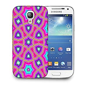 Snoogg Abstract Pink Star Pattern Designer Protective Back Case Cover For SAMSUNG GALAXY S4 MINI