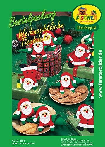 fischer fensterbild weihnachtliche tischdeko bastelpackung gr e je ca 13x17 cm zum. Black Bedroom Furniture Sets. Home Design Ideas