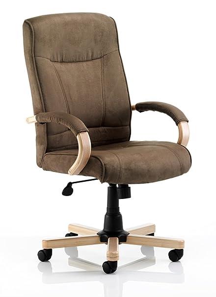 """Dinámico ex000027""""Efecto Suede fisnbury Ejecutivo silla con reposabrazos, color marrón"""