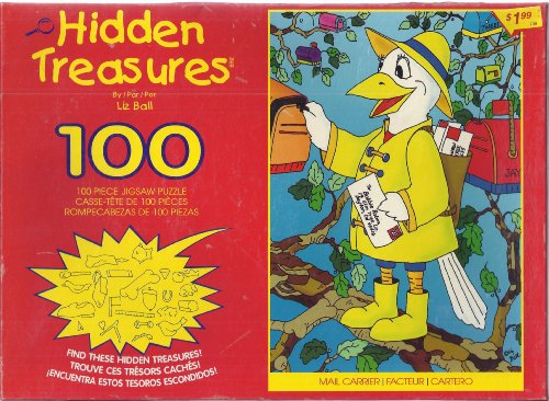 Hidden Treasures 100 Piece Puzzle Liz Ball Mail Carrier