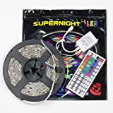 SUPERNIGHT (TM) 16.4FT SMD 5050 Waterproof 150LEDs RGB Flexible LED Strip Light Lamp Kit + 44Key IR Remote Controller