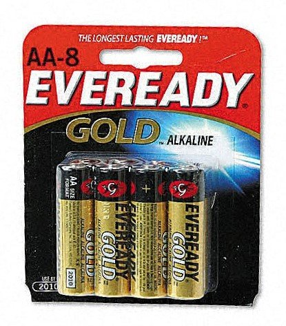 Cheapest Eveready Gold Alkaline Batteries, Size AA, 8-Count