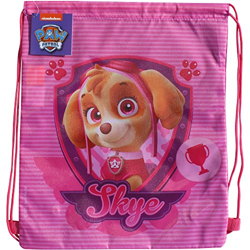 PAW-Patrol-Pink-Skye-Drawstring-School-Sports-Gym-Swimming-Bag