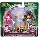 Power Rangers Mighty Morphin 4 Inch Action Figure 2Pack Pink Ranger & Dragonzord Battle Mode