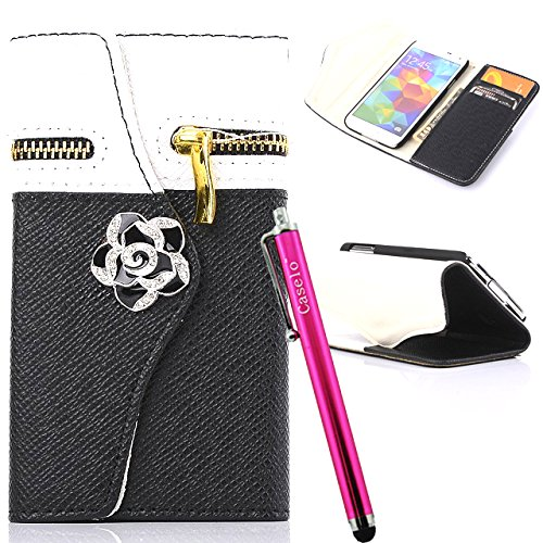 Note 3 Case, JCmax [Zipper Feature] Premium Flip PU Wallet Leather Case Built in Card Slots, Cash Compartment and Detachable Wrist Strap For Samsung Galaxy Note 3
