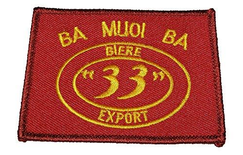ba-muoi-ba-biere-33-export-vietnam-beer-patch-yellow-maroon-veteran-owned-business