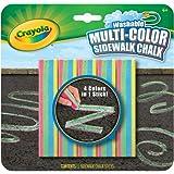 Crayola - Tizas de exterior con efecto multicolor (51-4105)