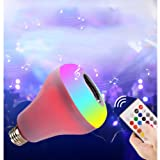 Ayygift 1-Pack Bluetooth Music Colorful LED Light Bulb Intelligent Colorful Music Stage Light Bulb (Color: White)