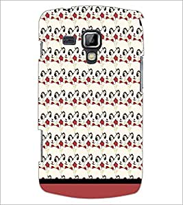PrintDhaba Cartoon pattern D-1768 Back Case Cover for SAMSUNG GALAXY S DUOS 2 S7582 (Multi-Coloured)