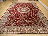 Stunning Silk Persian Area Rugs Traditional Red Tabriz 5x8 Living Room Rugs Red Rugs Dining Room Persian Rugs 5x7 Red Rugs (Medium 5'x8')