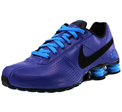 mens nike shox deliver purple yellow