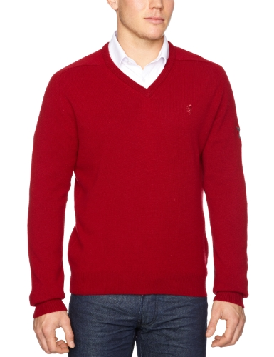 Pringle Classic V-Neck Detail Men's Jumper Raddish X-Large