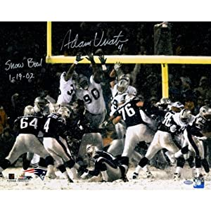 Adam Viantieri Signed New England Patriots vs Oakland Raiders in Snow 16x20 Photo w... by Steiner Sports