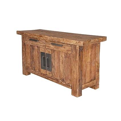 Sideboard aus Teak Massivholz Landhaus rustikal Pharao24