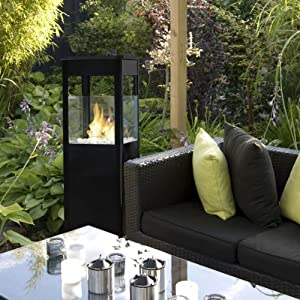 terrassen kamin ofen bio ethanol heizstrahler eckig garten. Black Bedroom Furniture Sets. Home Design Ideas