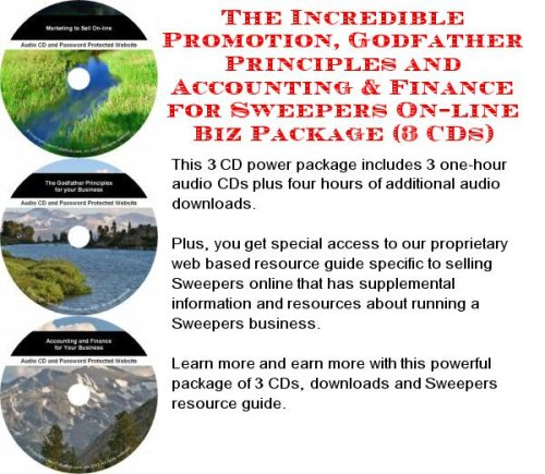 The Incredible Promotion, Godfather Principles and Accounting & Finance for Sweepers On-line Biz Package (3 CDs) (The Incredible Sweeper compare prices)