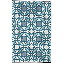 FabHabitat 810327024425 Seville Teppich, 90 x 150 cm, mehrfarbig / blau