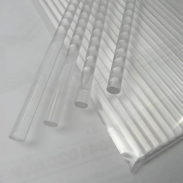 Weststone 100pcs 4 X 5/32 Clear Acrylic Lollipop Sticks for Cake Pops Lollipop Candy (Color: Clear Solid 4, Tamaño: 4)