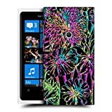 Head Case Dahlia Floral Print Hard Back Case Cover For Nokia Lumia 800