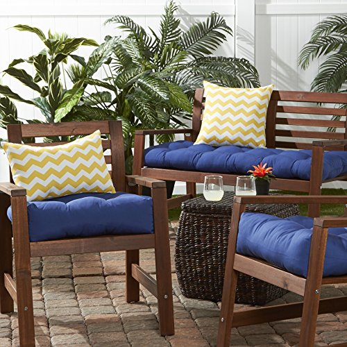 Greendale Home Fashions 51 Inch Indoor Outdoor Bench Cushion Marine Blue New
