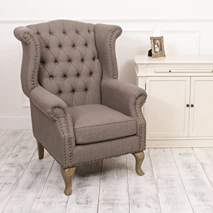 Luxury Grey button Back Stud Detail Feature Armchair, Amazing addition to any style home! Luxurious, Elegant and Striking Amazing Feature Chair! H115 x W80 x D88cm
