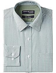 John Miller Men's Formal Shirt (8907372052007_1Os86152_44_Green)