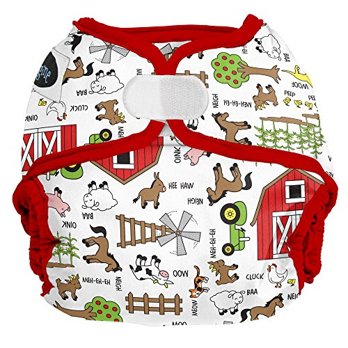 Imagine Baby Products Hook and Loop Diaper Cover, Barnyard Jam