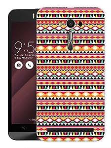"Humor Gang Ethnic Tribal Aztec Print Printed Designer Mobile Back Cover For ""Asus Zenfone Selfie"" (3D, Matte, Premium Quality Snap On Case)"
