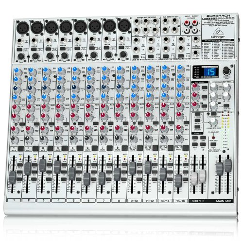 Behringer Ub2222Fx-Pro Eurorack Ultra-Low Noise 22-Input 2/2-Bus Mic/Line Mixer With Premium Mic Preamplifiers And Effects