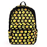Winkine Cute Emoji Backpack - Kids School Backpack - For School, Day to Day Use, Vacations