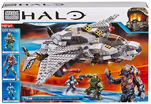 Mega Bloks Halo UNSC Broadsword Midnight Strike (Discontinued by manufacturer) (Eva Air Model compare prices)