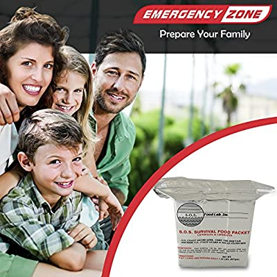 S.O.S. Rations Emergency 3600 Calorie Food Bar - 3 Day / 72 Hour Package with 5 Year Shelf Life from sos food labs inc