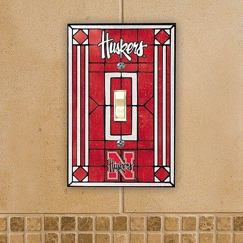 Nebraska Cornhuskers - NCAA Art Glass Single Switch Plate Cover