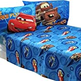 4pc Disney Cars Full Bed Sheet Set Lightning McQueen City Limits Bedding Accessories by Jay Franco and Sons