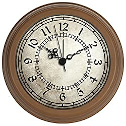 HITO Silent Non-ticking Wall Desk Clock w/ Alarm AND Table Stand- 6 inches (NO1)