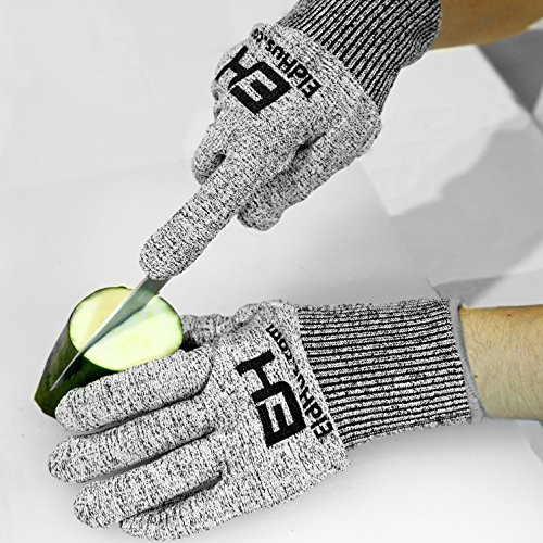 Cut Resistant Safety Cutting Gloves For Kitchen Home And Work Use Grey Garden Dining Tools