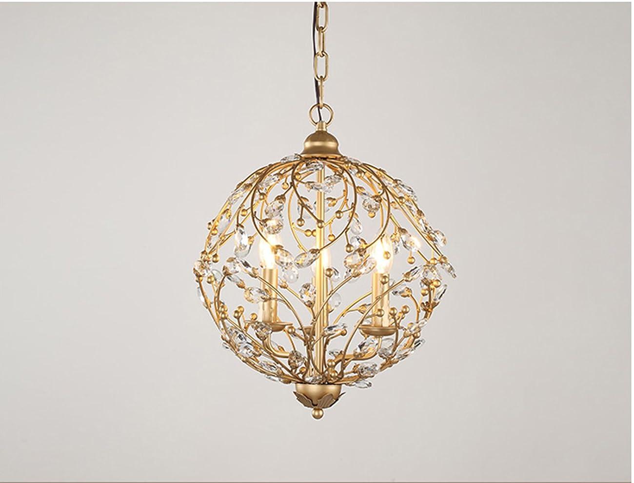 Garwarm Vintage Chandelier 3 lights Antique Pendant light Home Ceiling Light Fixtures Chandeliers Lighting,Golden 2