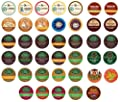 Keurig Coffee Only Sampler Pack K-cup Portion Pack For Keurig K-cup Brewers Pack Of 40 by Caribou, Coffee People, Donut House, Emeril's, Green Mountain, Newman's Own, Tully's